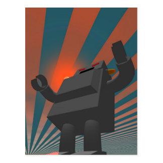 Retro Style Robot 4 Postcard