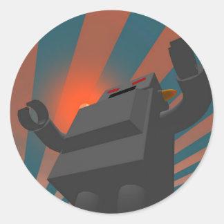 Retro Style Robot 4 Sticker