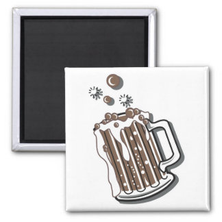 retro style root beer graphic 2 inch square magnet