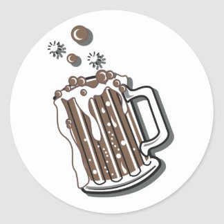 retro style root beer graphic classic round sticker