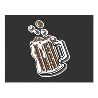retro style root beer graphic postcard
