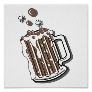 retro style root beer graphic poster