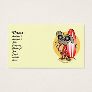 Retro Style Surfin' Pug Business Cards