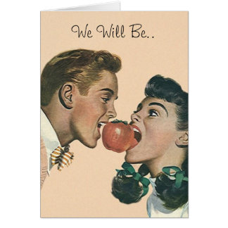 Retro Style Taking A Bite Out Of The Big Apple Card