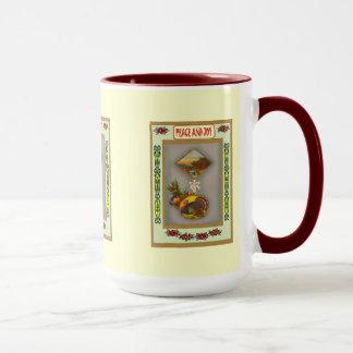 Retro style Thanksgiving mug