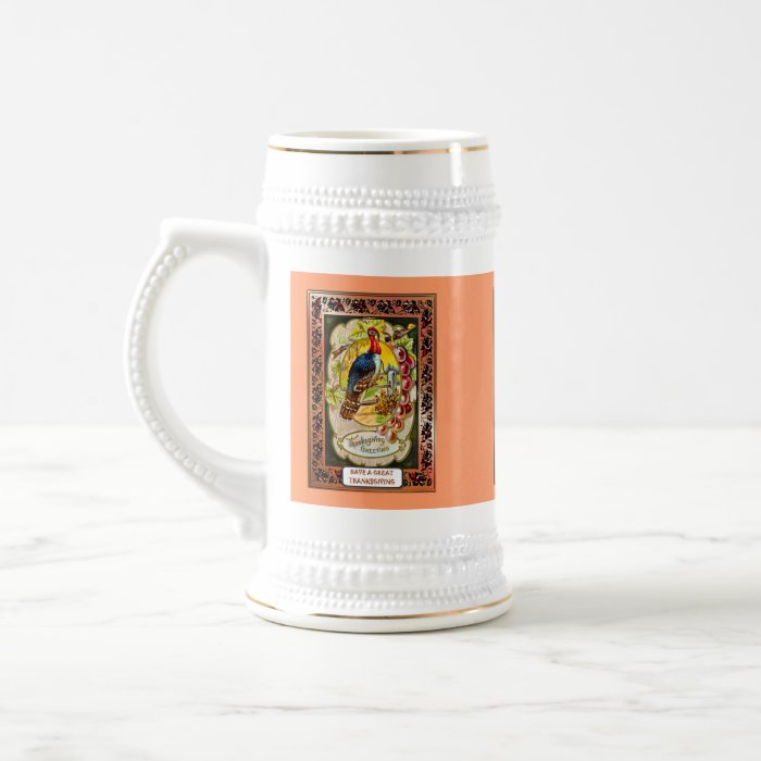 Retro style Thanksgiving mug