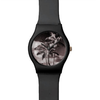 Retro Style Tropical Island Palm Trees Watches