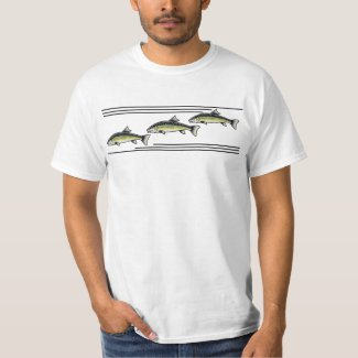 Retro Style Trout Fish Trio T-Shirt