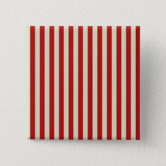 Retro Style Vertical PopCorn Classic Stripes Pinback Button