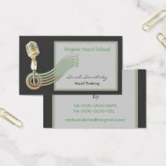 Retro Style Vintage Mic Business Cards at Zazzle