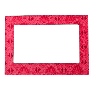 Retro Style Vintage Ruby Red Cranberry Shells Seas Magnetic Picture Frame
