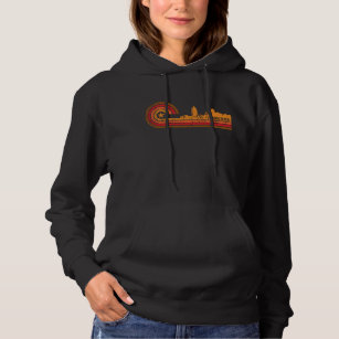 fba360ab3 Retro Style Virginia Beach Virginia Skyline Distre Hoodie