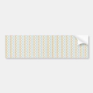 Retro Style Wedding Pattern - Customize Bumper Sticker