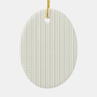 Retro Style Wedding Pattern - Customize Ceramic Ornament