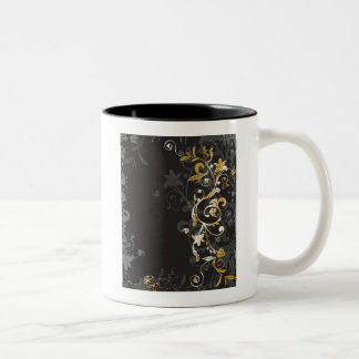 retro-styled background Two-Tone coffee mug