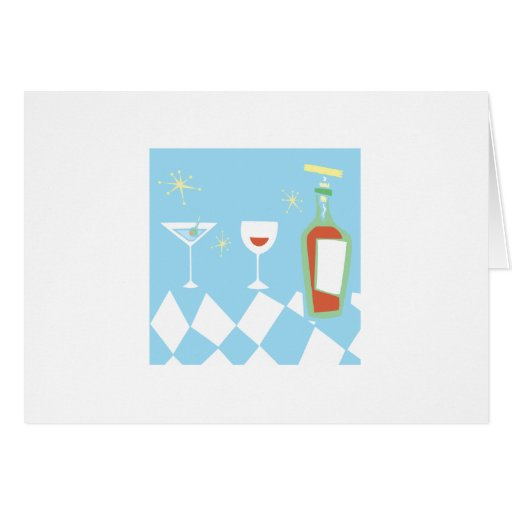 Retro Styled Drinks Greeting Card