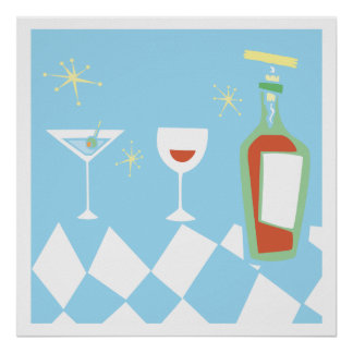 Retro Styled Drinks Poster