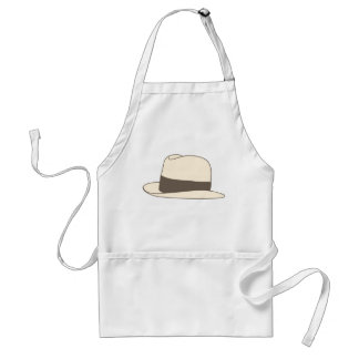 retro styled fedora hipster hat adult apron