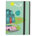 Retro Suburban House iPad Case