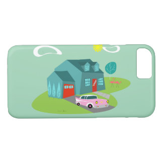 Retro Suburban House iPhone Case