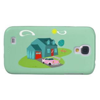 Retro Suburban House Samsung Galaxy Case