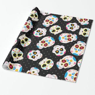 Retro Sugar Skull Wrapping Paper