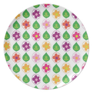 retro summer feeling pink dinner plate