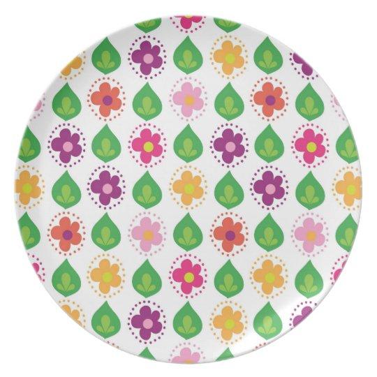 retro summer feeling pink dinner plate