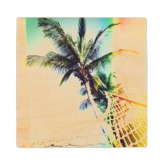 Retro Summertime Wooden Coaster