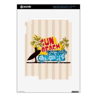 Retro Sun & Surf iPad 3 Pegatinas Skins