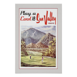Retro Sun Valley Golfing Travel Poster