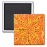 Retro sunburst frig magnet is psychedelic fun