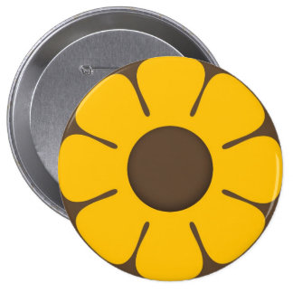 RETRO Sunflower Backpack Pins buttons