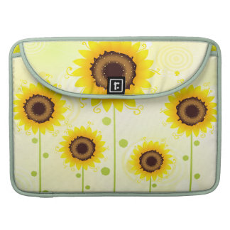 Retro Sunflower Garden  Rickshaw Flap Sleeve Sleeve For MacBooks