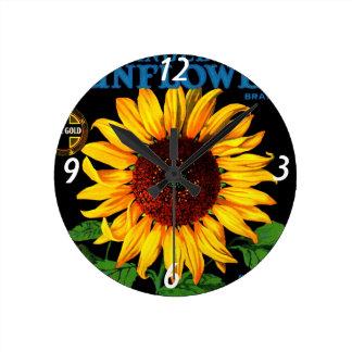Retro Sunflower  Wall Clock