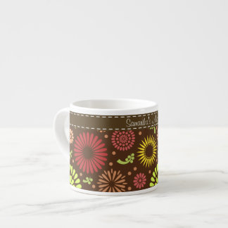 Retro sunflowers  Espresso/ Jumbo/ Bone China Mug