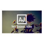 Retro Sunflowers in the Morning Business Card