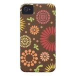 Retro sunflowers iPhone 4/4S Case