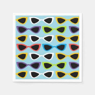 Retro sunglasses cocktail napkin