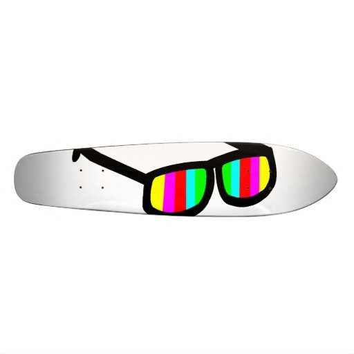 Retro Sunglasses Longboard Skate Deck