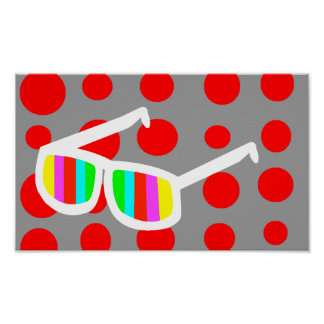 Retro Sunglasses Poster