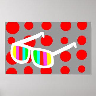 Retro Sunglasses Poster