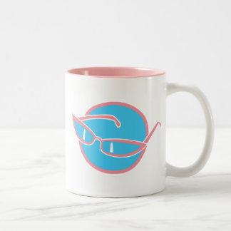 retro sunglasses, retro sunglasses Two-Tone coffee mug