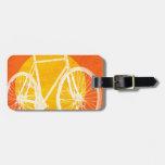 Retro Sunset Bicycle - Ride a Bike Bag Tag