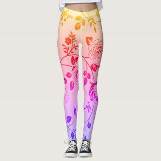 Retro-Sunset_Floral_XS-TO--XL_Leggings_ Leggings