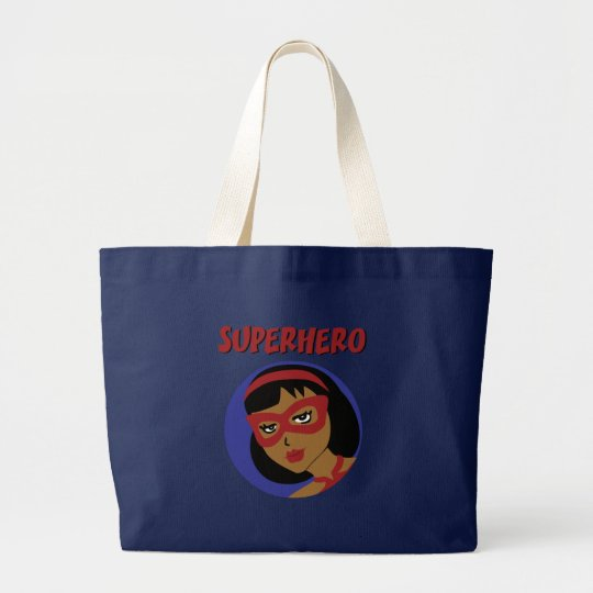 Retro Superhero Large Tote Bag