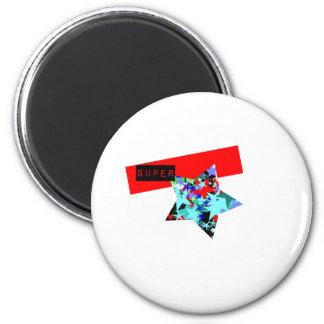 Retro Superstar In Day-Glo 2 Inch Round Magnet
