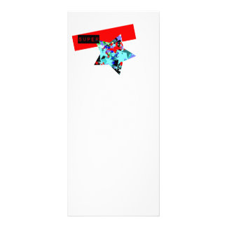 Retro Superstar In Day-Glo Rack Card