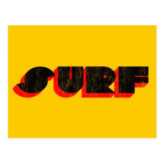retro surf postcard