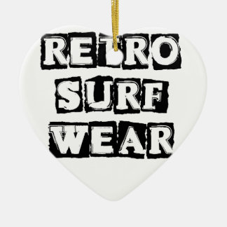 Retro Surf Wear Ceramic Ornament